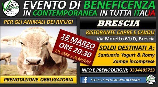 cena benefit santuario Yogurt 18 marzo 17