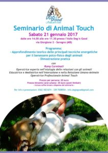 locandina seminario Animal Touch Romy Carminati