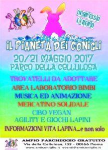 locandina evento Il pianeta dei conigli 20-21 maggio 2017