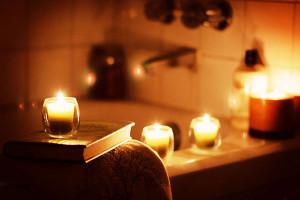 bagno con candele