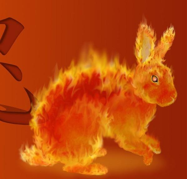 Coniglio infuocato
