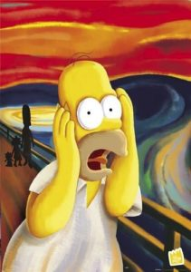 homer simpson urlo di munch